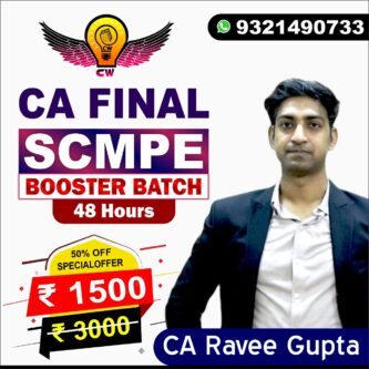 SCMPE Booster By CA Ravee Gupta For May & Nov 2021