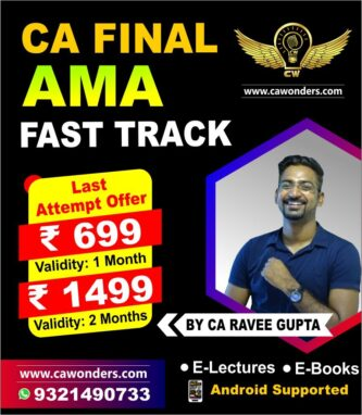 CA Final Costing Fast Track Lectures | By CA Ravee Gupta | AMA Costing & OR MAY 2021
