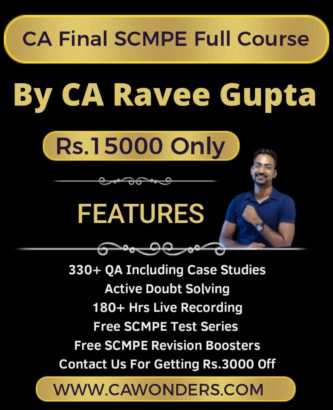 SCMPE Full Course Batch By CA Ravee Gupta