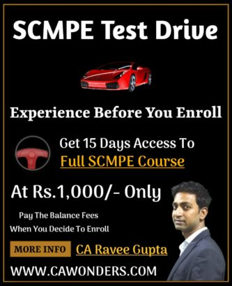 SCMPE Full Course - Test Drive - By CA Ravee Gupta