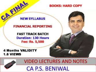 CA PS Beniwal FR Fast Track New Syllabus