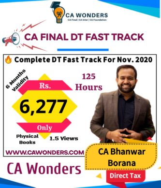 CA Bhanwar Borana Fast Track Lectures Nov. 2020