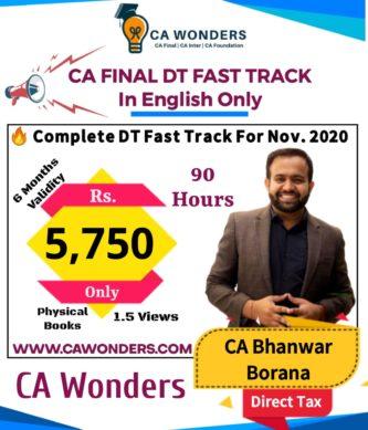 CA Bhanwar Borana Fast Track in English Nov. 2020