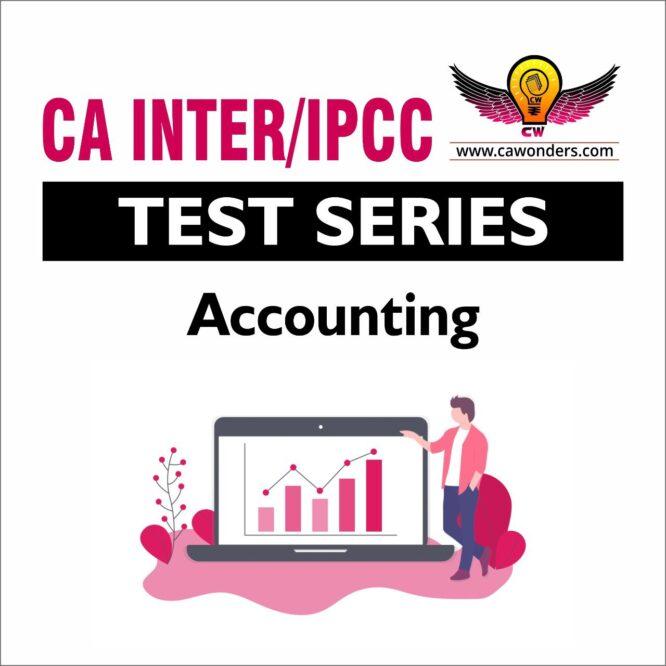 CA Inter / IPCC Test Series | Accounting Test Series