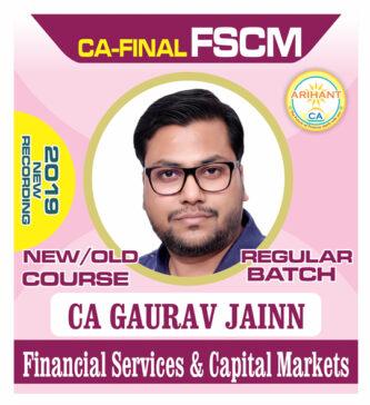 CA Final Elective Paper 6B Financial Services & Capital Markets by CA Gaurav Jainn