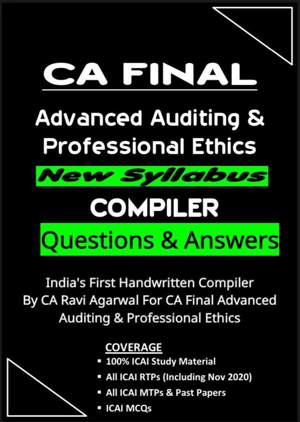 CA Final AUDIT COMPILER (PDF) For Nov. 2020 Exam By CA Ravi Agarwal