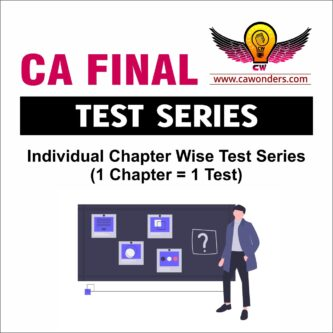 CA Final Test Series | Detailed Individual Chapter Wise Test Series