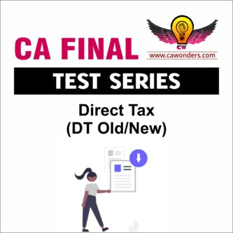 CA Final Test Series | DT Test Series
