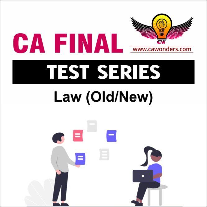 CA Final Test Series   Law Test Series