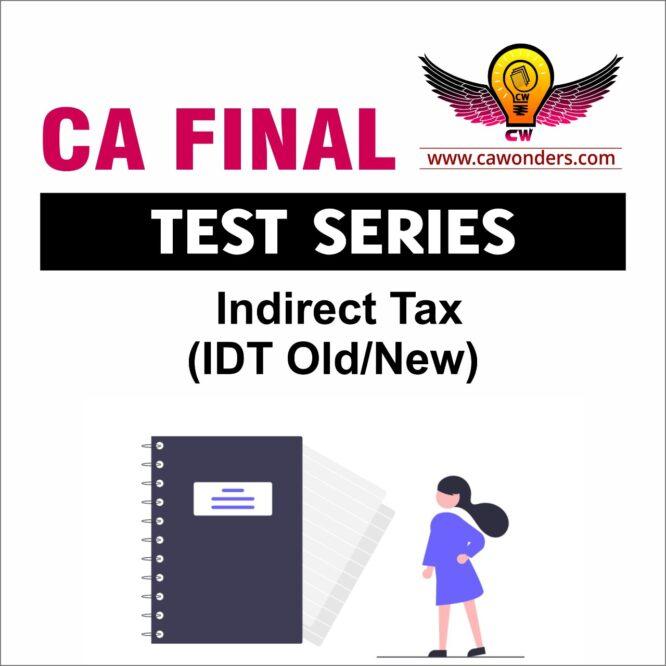 CA Final Test Series   IDT Test Series