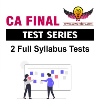 CA Final Test Series | Fast Track Test Series | 2 Full Syllabus Tests