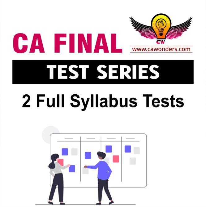 ca final fast track test series
