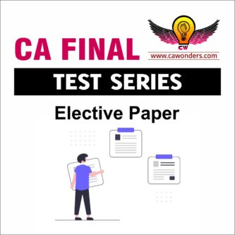 CA Final Test Series | Elective Paper