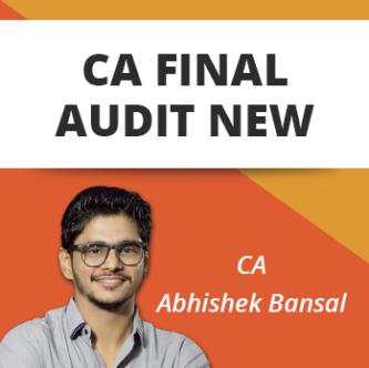CA FINAL AUDIT REGULAR BATCH NEW SYLLABUS BY CA ABHISHEK BANSAL