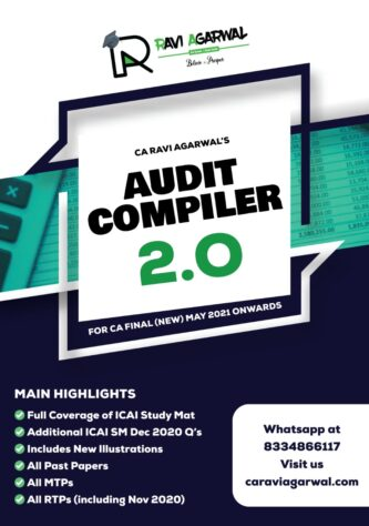 CA Final AUDIT COMPILER 2.0 PDF For May 2021 & Nov 2021 Exam By CA Ravi Agarwal (At Admin Cost)