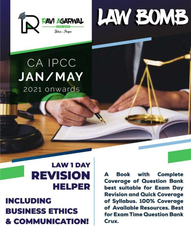 CA IPCC LAW COMPILER BOMB By CA Ravi Agarwal (PDF)