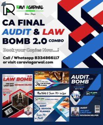 CA Final Law Bomb 2.0 and Audit Bomb 2.0 (Combo) (Old/New Syllabus) By CA Ravi Agarwal