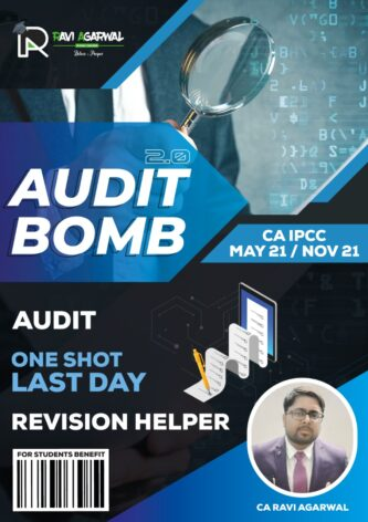 CA IPCC AUDIT BOMB 2.0 By CA Ravi Agarwal | For May 2021 | Audit Scanner in CRISP (COMPACT EDITION)