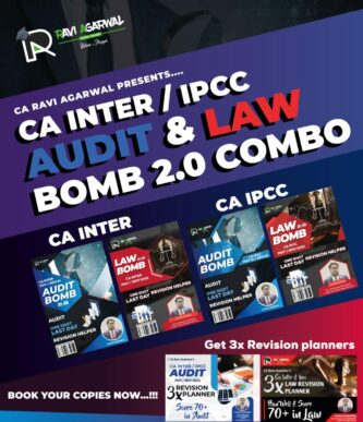 CA INTER/IPCC LAW & AUDIT BOMB 2.0 COMBO | FULL SCANNER IN CRISP (COMPACT EDITION)