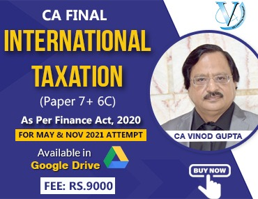 CA Final International Taxation (Paper 7+6C) - Pen Drive