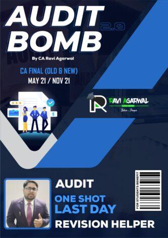 CA Final Audit Bomb 2.0 PDF (Old & New Syllabus) By CA Ravi Agarwal