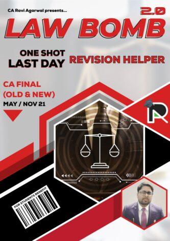 CA Final Law Bomb 2.0 PDF (Old & New Syllabus) By CA Ravi Agarwal