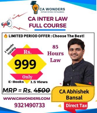 ca inter law by abhishek bansal